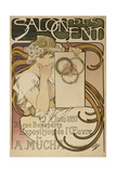 Poster for Alphonse Mucha's Exhibition in the Salon Des Cent, Paris, France, 1897 Giclee Print by Alphonse Mucha