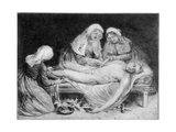 Three Nurses Tending a Wounded Soldier, 1915 Giclee Print by Anna Lea Merritt