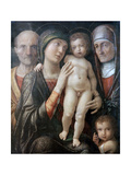 Holy Family with St Elizabeth and St John the Baptist as a Child, C1495-1500 Giclee Print by Andrea Mantegna