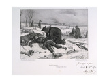 After the Battle of Champigny, Franco-Prussian War, 1870 Giclee Print by Auguste Bry