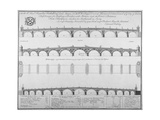 Three Designs by Edward Oakley for Blackfriars Bridge, 1756 Giclee Print by Benjamin Cole
