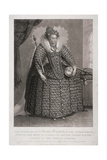 Queen Elizabeth I Holding Sceptre and Orb, 1868 Giclee Print by Charles Turner