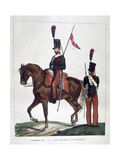 Uniforms of the Mounted 9th and 10th Chasseur Regiment, 1823 Giclee Print by Charles Etienne Pierre Motte