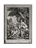 Telemachus, in the Desert of Oasis, Is Consoled by Termosiris a Priest of Apollo, 1774 Giclee Print by Charles Grignion