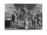 The Family of King James I of England, Scotland and Ireland Giclee Print by Charles Turner