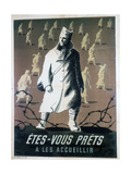 Are You Ready to Welcome Them, C1946 Giclee Print by Bernard Villemot