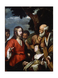 The Miracle of the Five Loaves and Two Fishes, after 1630 Giclee Print by Bernardo Strozzi