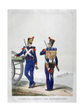 Uniforms of a Swiss Artillery Regiment, 1823 Giclee Print by Charles Etienne Pierre Motte
