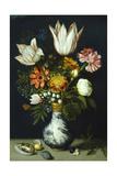 Flowers in a Porcelain Vase, C1600 Lámina giclée por Ambrosius Bosschaert