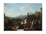 The Siege of La Rochelle in October 1628, Early 18th Century Giclee Print by Arnold Frans Rubens