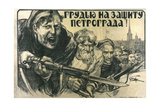 Stand Up for Petrograd!, Poster, 1919 Giclee Print by Alexander Apsit