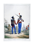 Uniform of a Regiment of Swiss Infantry, France, 1823 Giclee Print by Charles Etienne Pierre Motte