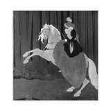 A Woman Sitting on a Rearing Horse, 1898 Giclee Print by Aubrey Beardsley
