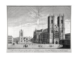 East View of Westminster Abbey and St Margaret's Church, London, C1720 Giclee Print by Benjamin Cole