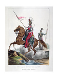 Uniforms of a Regiment of Lancers of the French Royal Guard, 1823 Giclee Print by Charles Etienne Pierre Motte
