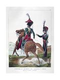 Uniforms of the Mounted Chasseur Regiment of the French Royal Guard, 1823 Giclee Print by Charles Etienne Pierre Motte