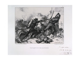 Hand-To-Hand Fighting, Siege of Paris, Franco-Prussian War, 1870 Giclee Print by Auguste Bry