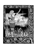 Excalibur Being Reclaimed by the Lady of the Lake, 1893 Giclee Print by Aubrey Beardsley