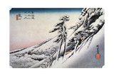 Clear Weather after Snow at Kameyama, from 53 Stations of Tokaido, 1832 Giclee Print by Ando Hiroshige