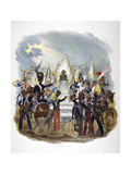 Different French Army Uniforms and Regiments, 1823 Giclee Print by Charles Etienne Pierre Motte