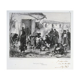 French Advanced Guard Post at Creteil, Siege of Paris, Franco-Prussian War, December 1870 Giclee Print by Auguste Bry