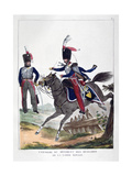Uniforms of a Regiment of Hussars of the French Royal Guard, 1823 Giclee Print by Charles Etienne Pierre Motte