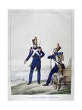 Uniform of Artillerymen, France, 1823 Giclee Print by Charles Etienne Pierre Motte