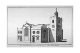 North-West View of the Church of St Mary, Whitechapel, London, C1800 Giclee Print by Benjamin Cole