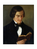 Portrait of the Poet Heinrich Heine, 1842 Giclee Print by Amalia Keller