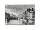 The Corn Quay, Ghent, Flanders, Belgium, 1879 Giclee Print by Charles Barbant