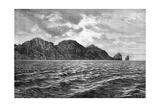 Cape Pillar, Tasman Peninsula, 1895 Giclee Print by  Barbant
