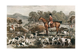Ralph John Lambton and His Horse Undertaker and Hounds, Late 18th Century Giclee Print by Charles Turner
