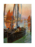 Brest Fishing Boats, 1907 Giclee Print by Charles Padday
