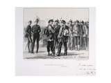 Troops from the Provinces Arriving in Paris before the Prussian Siege, September 1870 Giclee Print by Auguste Bry