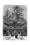 Portico of the Temple of the Four Dragons (Nikko Toshog), Nikko, Japan, 1895 Giclee Print by Armand Kohl