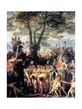 The Helvetians Force the Romans to Pass under the Yoke, 1858 Giclee Print by Charles Gleyre