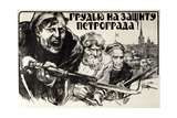 Let's Defend Petrograd Bravery!, 1919 Giclee Print by Alexander Apsit