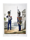 Uniforms of the Grenadiers.. of the French Royal Guard, 1823 Giclee Print by Charles Etienne Pierre Motte