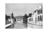 The Mosque and Fountain of Abraham, Ofra (At Tayyiba), West Bank, Israel, 1895 Giclee Print by Armand Kohl