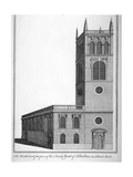 All Hallows Church, Bread Street, London, 1750 Giclee Print by Benjamin Cole