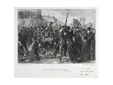 French Soldiers Departing for Buzenval, Siege of Paris, Franco-Prussian War, 18 January 1871 Giclee Print by Auguste Bry