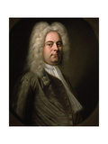 George Frideric Handel, German Composer, 1726-1728 Giclee Print by Balthasar Denner