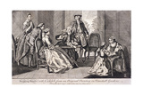 Building Houses with Cards', C1745 Giclee Print by Benjamin Cole