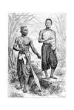 Siamese Youths, 1895 Giclee Print by Charles Barbant