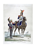 Uniform of the 1st Regiment of Chasseurs, France, 1823 Giclee Print by Charles Etienne Pierre Motte