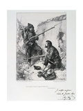 In the Trenches, Siege of Paris, Franco-Prussian War, 1870-1871 Giclee Print by Auguste Bry