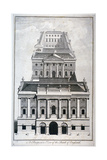 Perspective View of the Bank of England, City of London, C1750 Giclee Print by Benjamin Cole