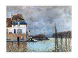 The Flood at Port-Marly, 1876 Giclee Print by Alfred Sisley