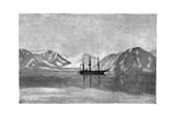 The 'Vega' at Anchor in Konyam Bay, Siberia, Russia, 1895 Giclee Print by Armand Kohl