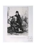 A Woman Feeding a Wounded Soldier Soup, Siege of Paris, Franco-Prussian War, 1870 Giclee Print by Auguste Bry